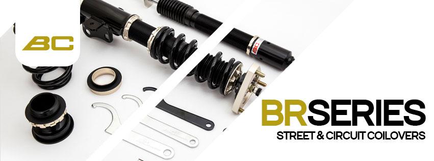 BC Racing BR Series sportiniai amortizatoriai, coilovers, spyruoklės, dalys